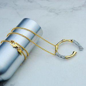 Alexis Bittar Zircon Horse Shaped Slub Necklace